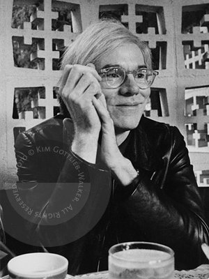 Andy Warhol, interviewed at the Polo Lounge of the Beverly Hills Hotel